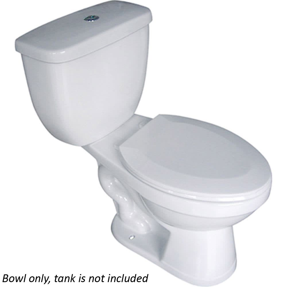 Saranac Elongated White Toilet Bowl