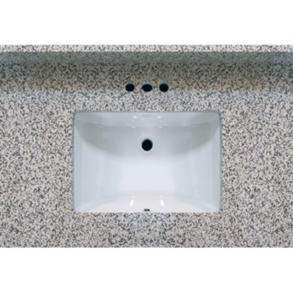 5020486 37x22 Pebble Beach Granite Vanity Top with Square Bowl