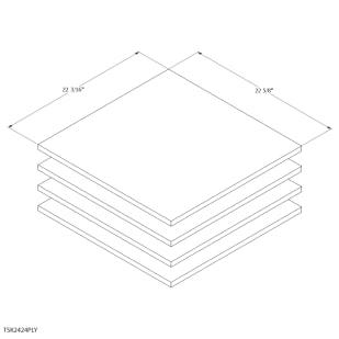 "Unfinished Oak Cabinet 24"" Shelf Kit"