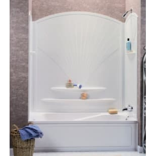 "Maax Decora 63"" White Tub Wall Surround"