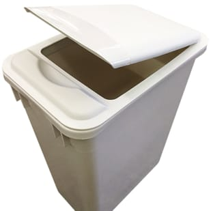 5049019 Trash Can Lid   white  lid only