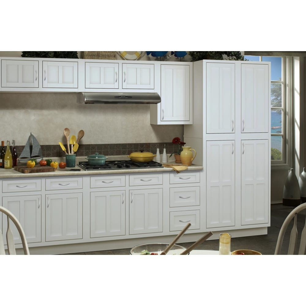 Sunnywood Palmetto White Shaker Cabinets