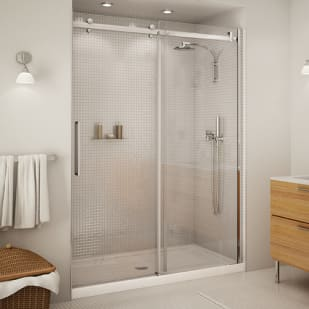 "Maax Halo 60"" Clear Glass and Chrome Shower Door"