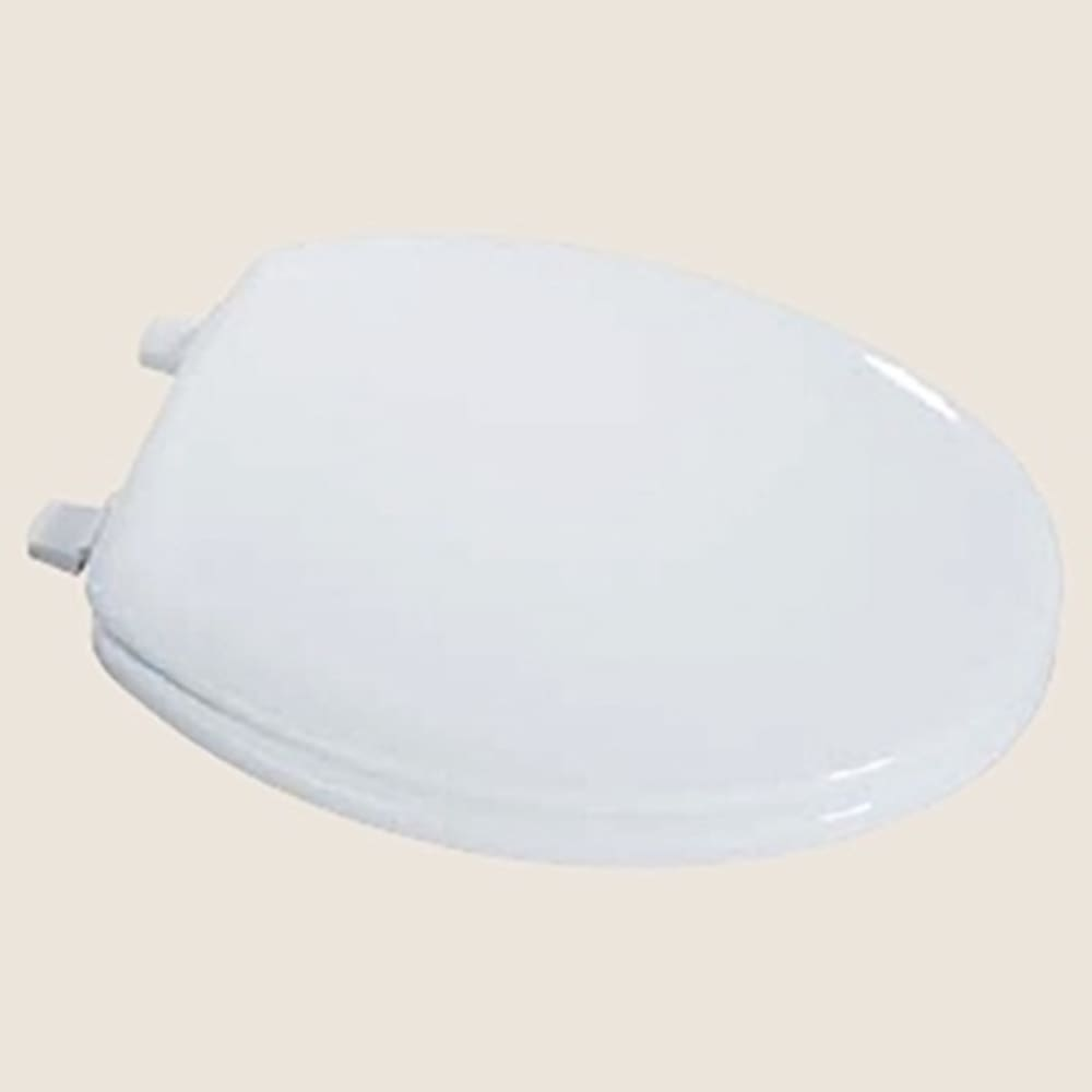 White Elongated Front Toilet Seat