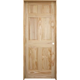 4528613 28 x 80 6 Panel Clear Pine Interior Door Slab  Left Hand