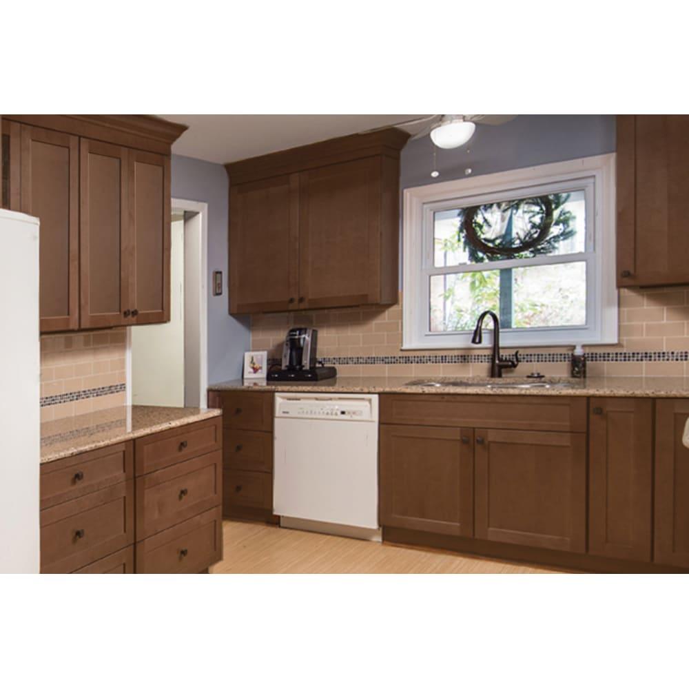 NEKC Putnam Walnut Shaker Cabinets | Barton's Home