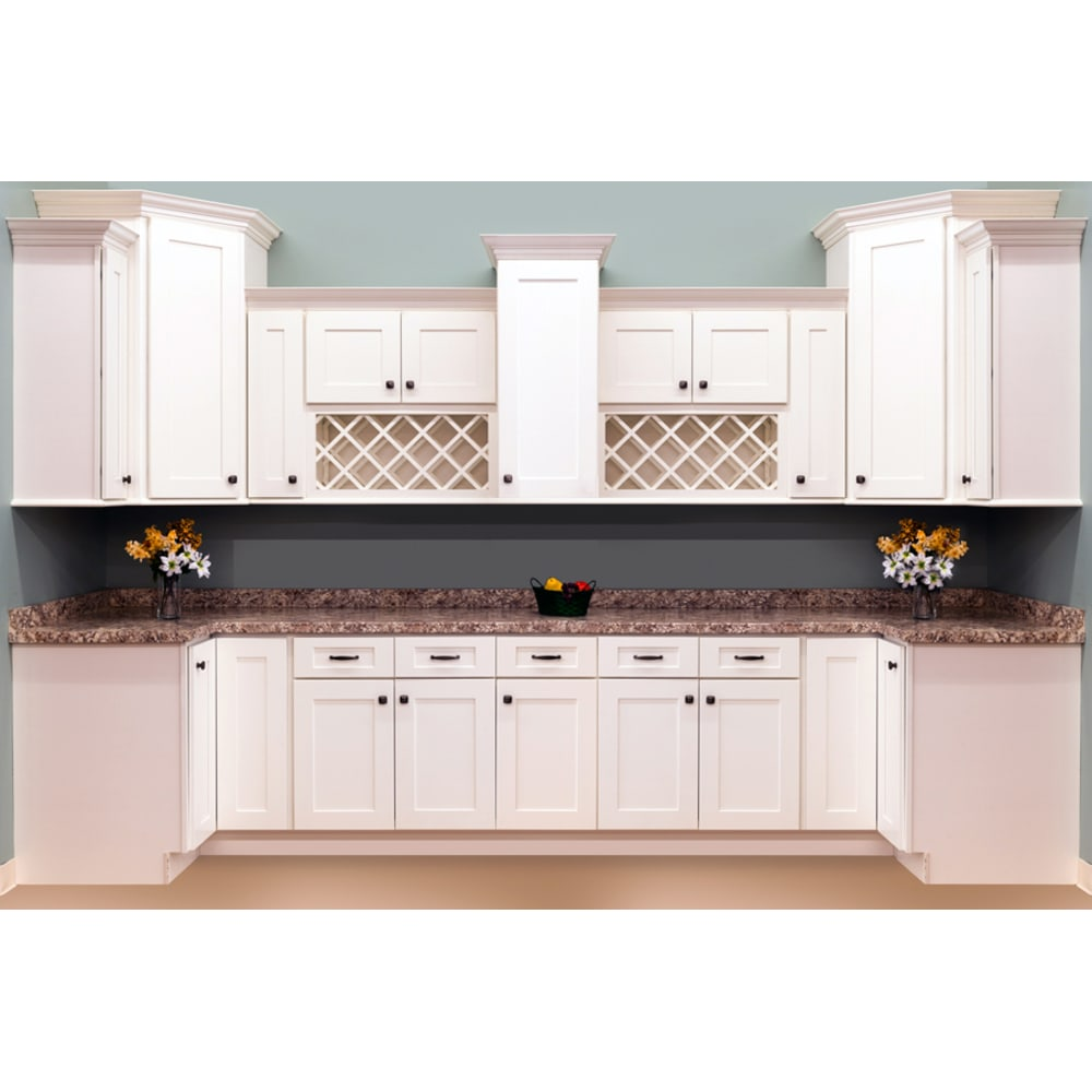 Kitchens With White Shaker Style Cabinets: Faircrest White Shaker Cabinets