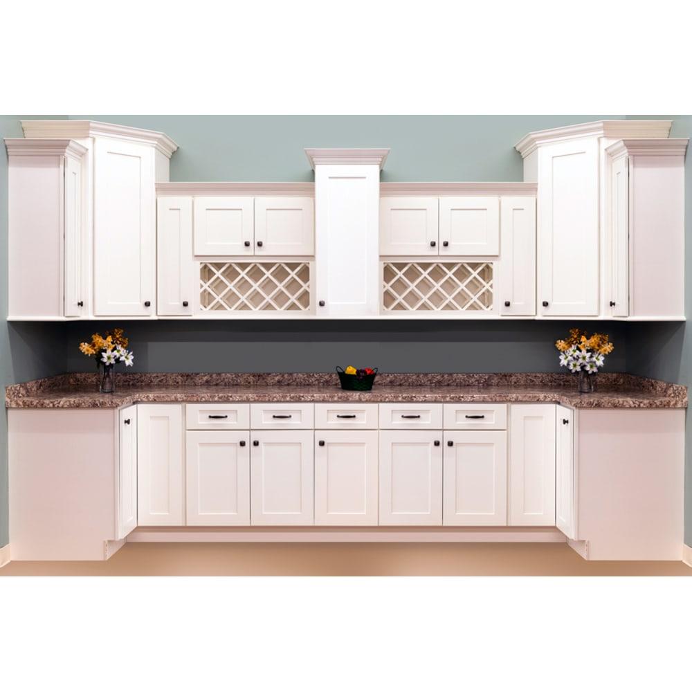 Faircrest White Shaker Kitchen Cabinets