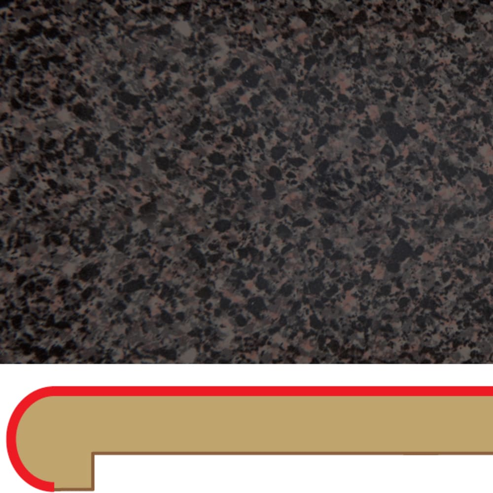 55160126 Black Star Granite 3  039 x4  039  Post formed laminate Island Top