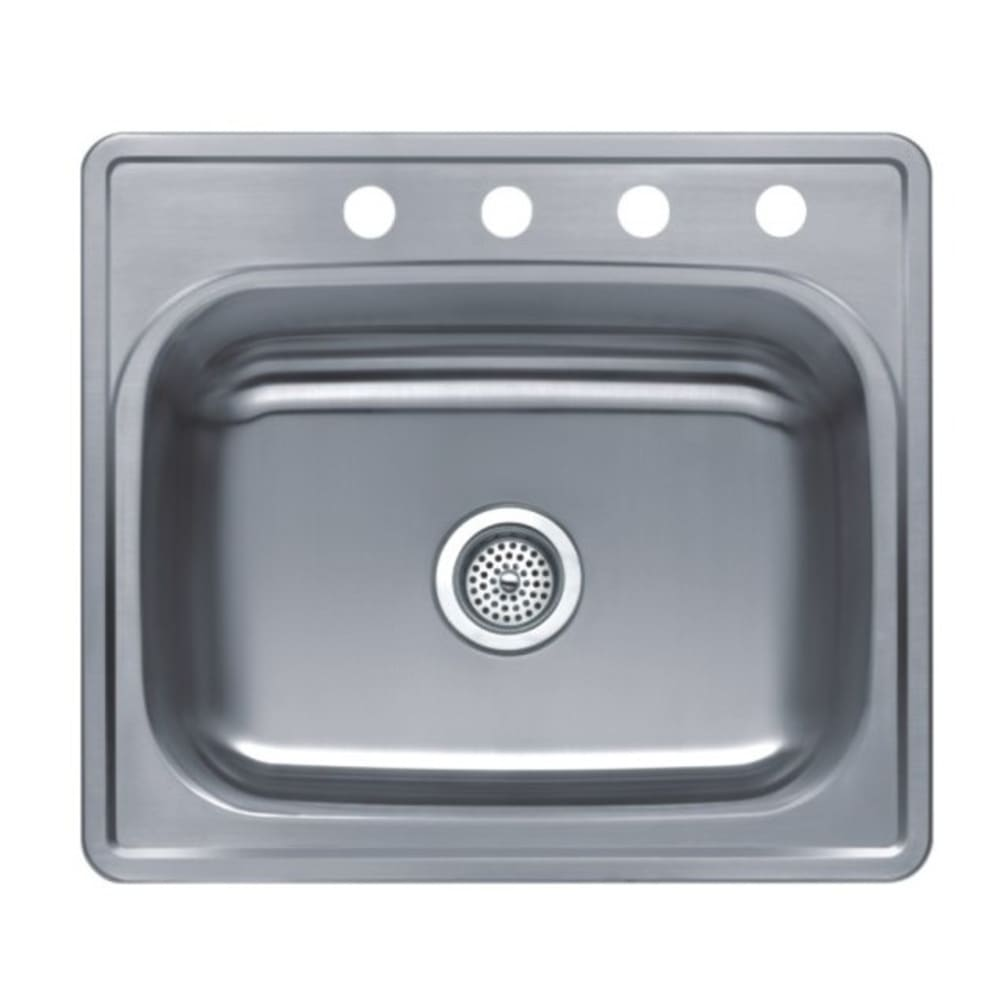 "25X22 8"" Deep Single Bowl Satin Stainless Steel Sink"
