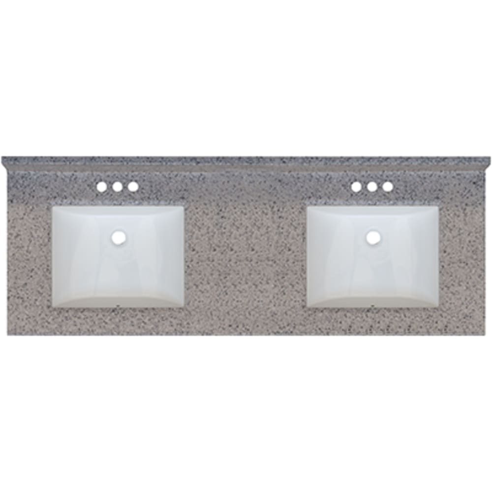5020702 Rocky Trail 61x22 Double Bowl Granite Finish Vanity Top