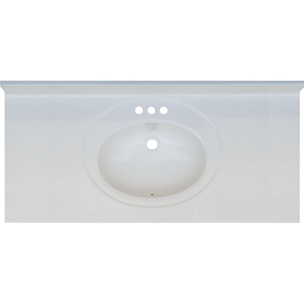 5020695 Solid White 49x22 Engineered Stone Vanity Top
