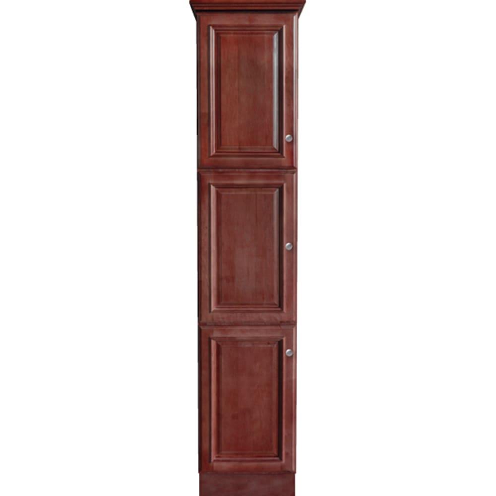 5024373 Savannah Merlot 78x18 Three Door Linen Cabinet