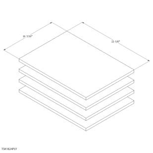 "Unfinished Oak Cabinet 18"" Shelf Kit"