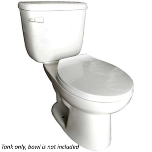 Huron White 1.28GPF Low Consumption White Toilet Tank