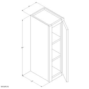 "Unfinished Oak 9""x30"" Wall Cabinet"
