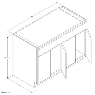 """Unfinished Oak 48"""" Sink Base Cabinet"""