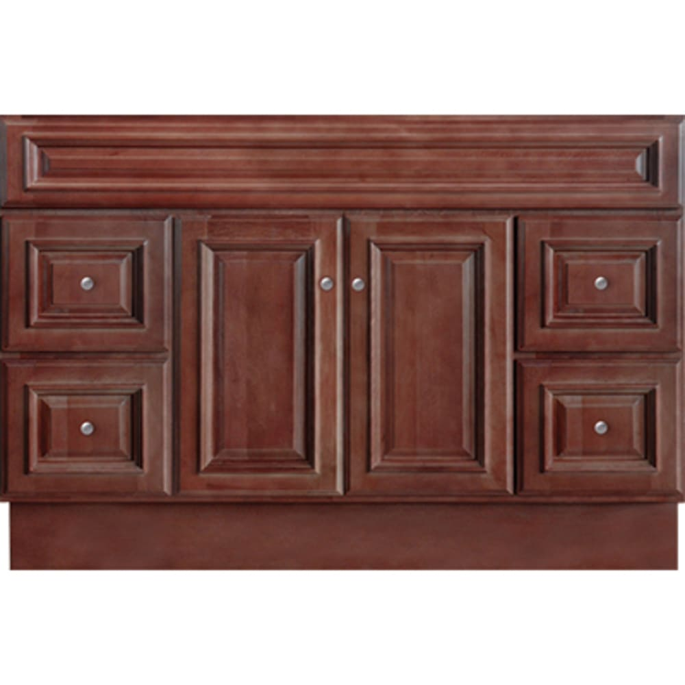 5024369 Savannah Merlot 48x21 Two Door Four Drawer Vanity base
