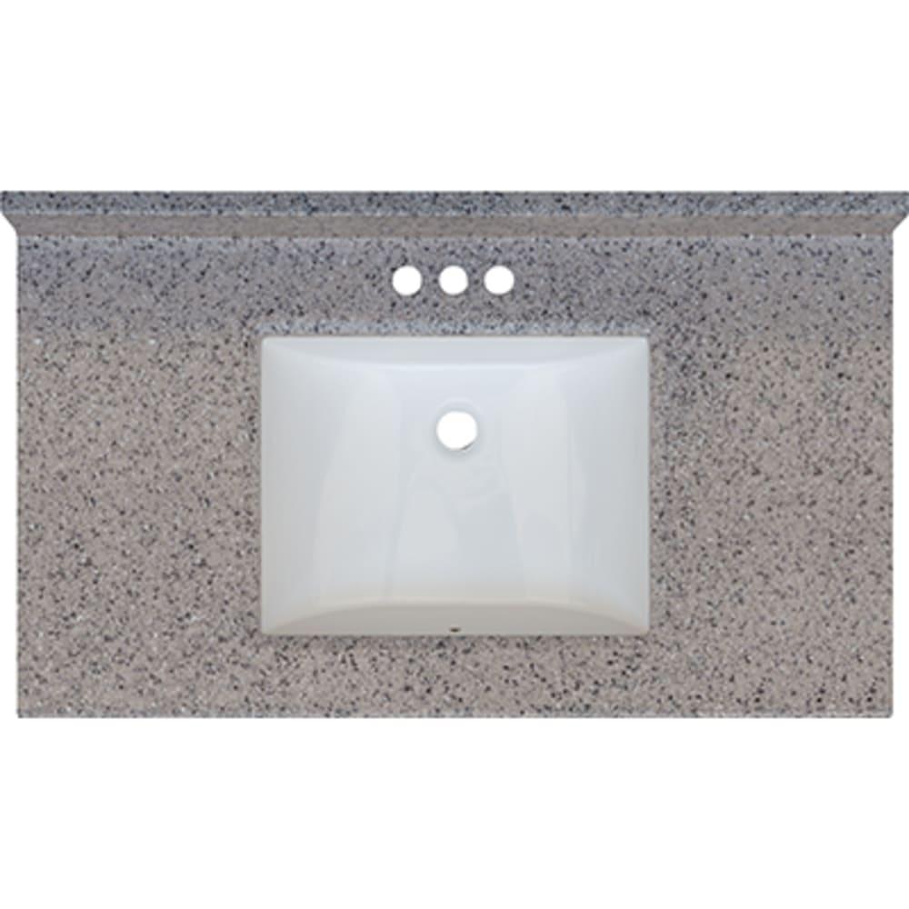5020700 Rocky Trail 37x22 Engineered Stone Granite Finish Vanity Top