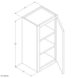 "Unfinished Oak 15""x30"" Wall Cabinet"