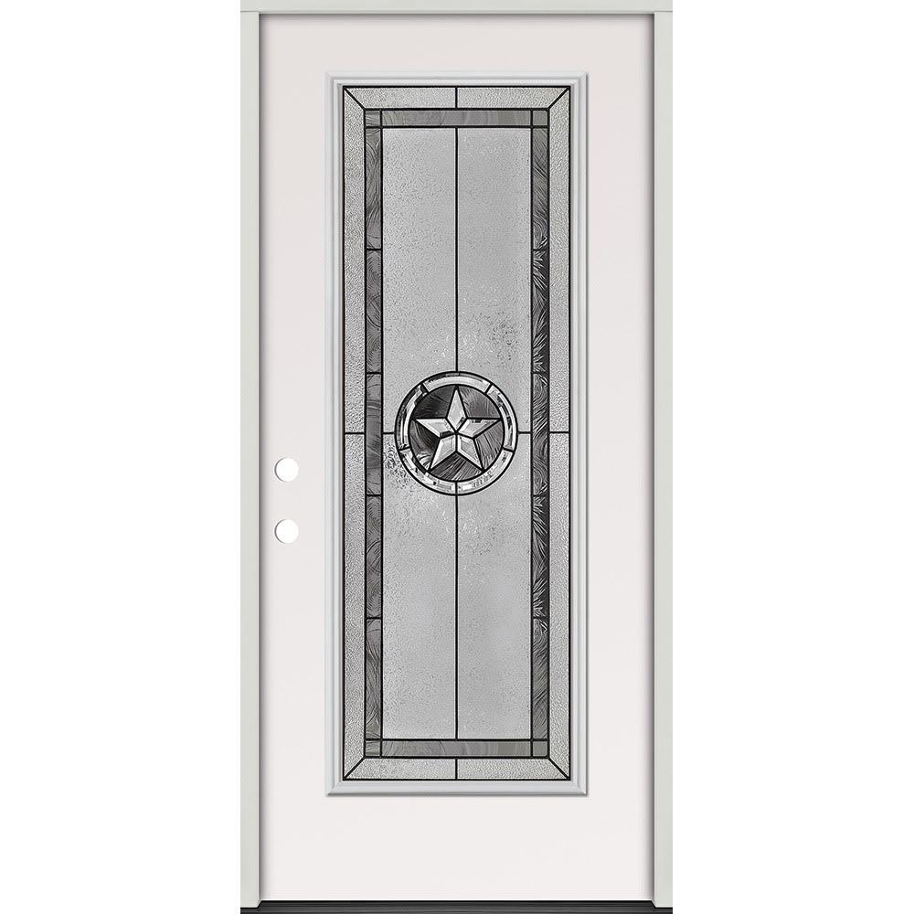 45320052 36 Full Lite Prehung Exterior Steel Door Unit  Right Hand
