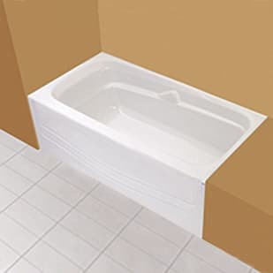 "Maax Avenue 60""x30"" White Soaker Tub with Left Drain"
