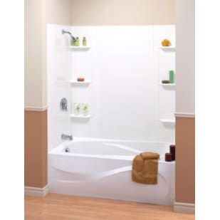 "Maax Tempest 59"" White Tub Wall Surround"