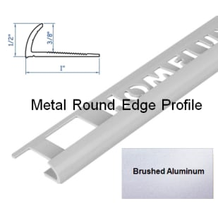 5552835 HomeLux Metal Round Edge Flooring Trim