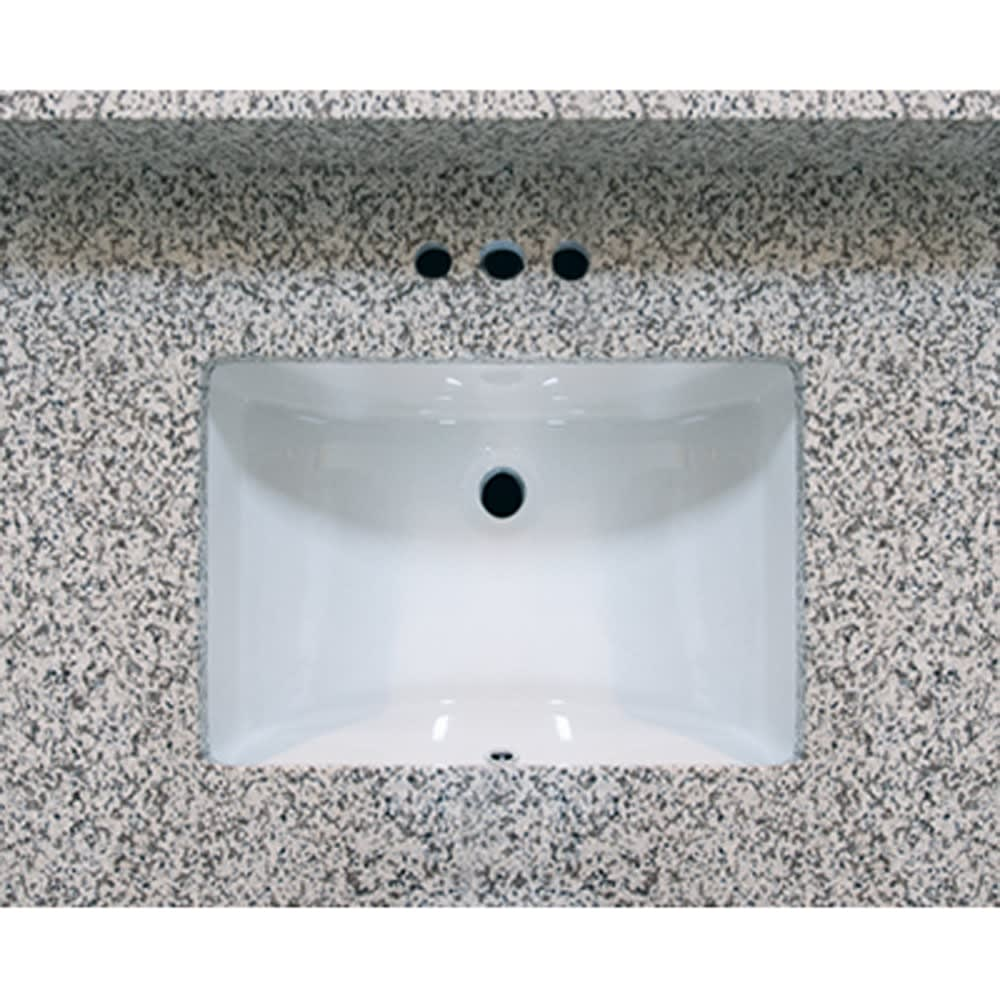 5020485 31x22 Pebble Beach Granite Vanity Top with Square Bowl