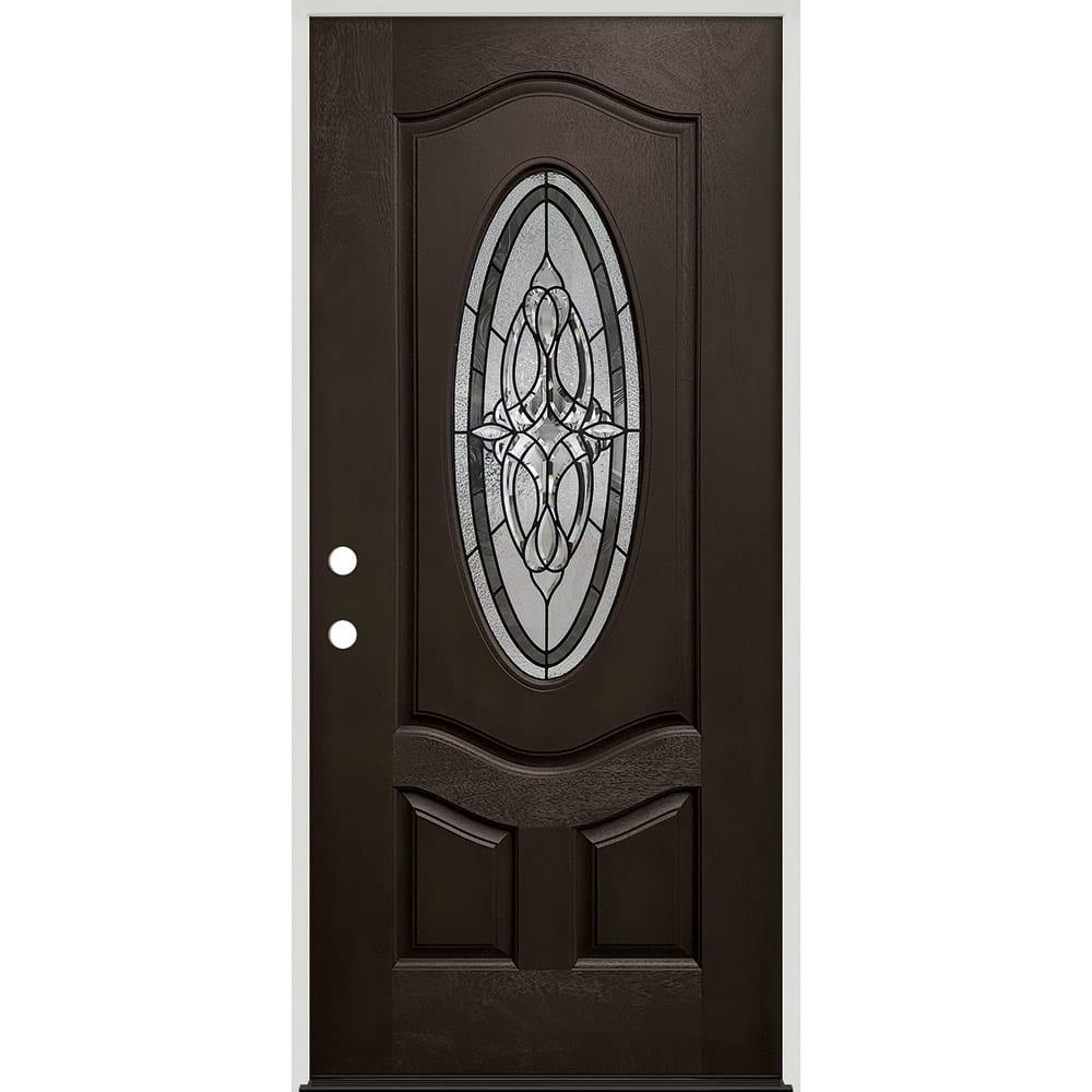 45320035 36 Prefinished  Prehung Fiberglass Exterior Door Unit  Right Hand