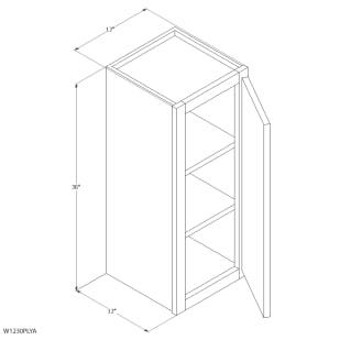 "Unfinished Oak 12""x30"" Wall Cabinet"