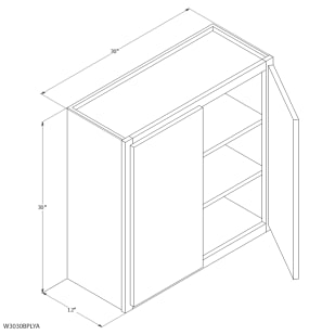 "Unfinished Oak 30""x30"" Wall Cabinet"
