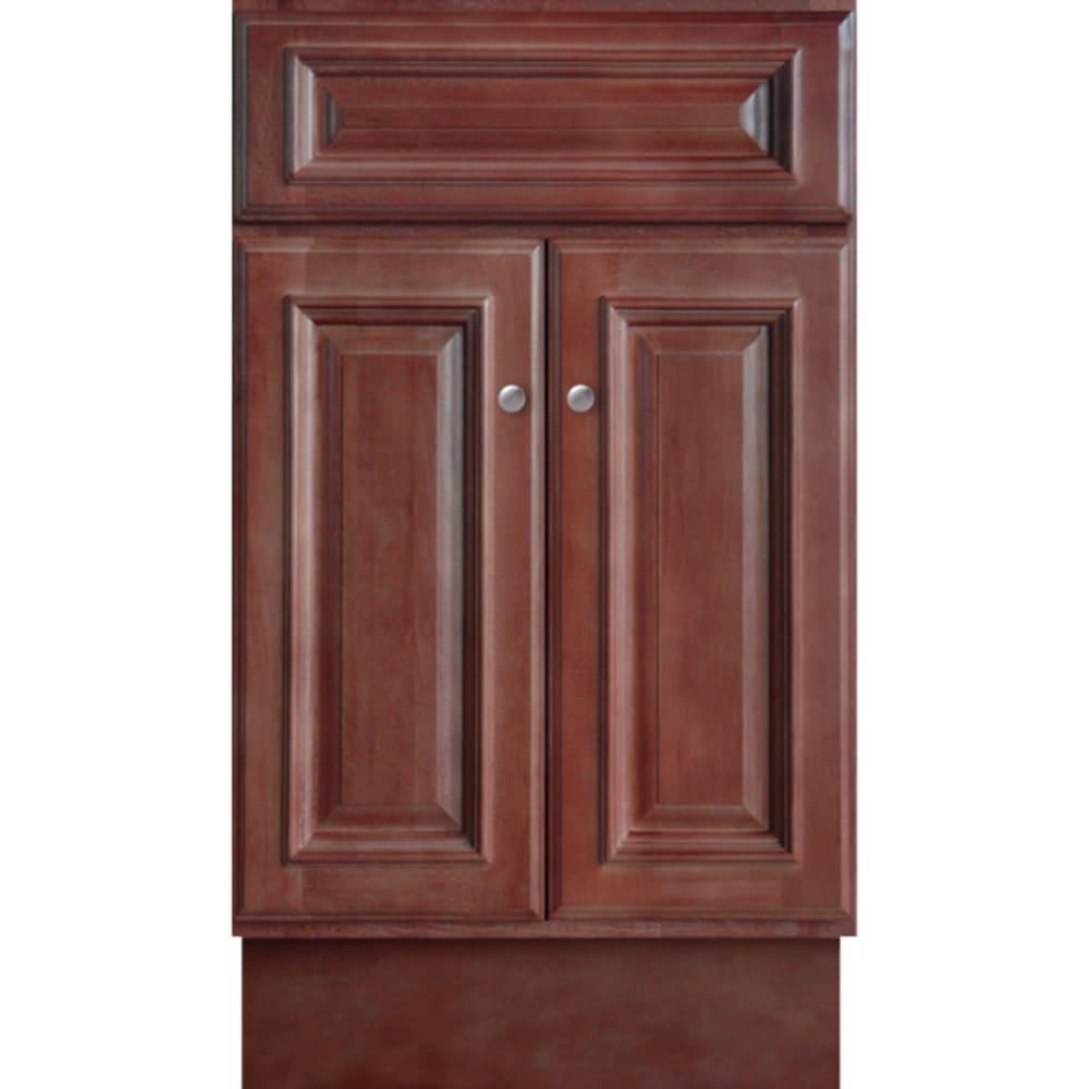 5024361 Savannah Merlot 18x16 Two Door Vanity base