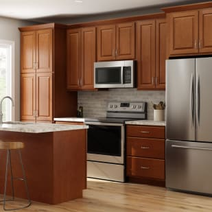Smart Prescott Chestnut Kitchen Cabinets