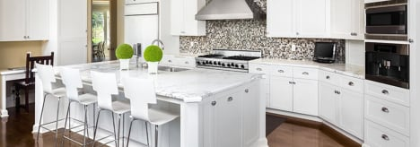 GHI Arcadia White Cabinets