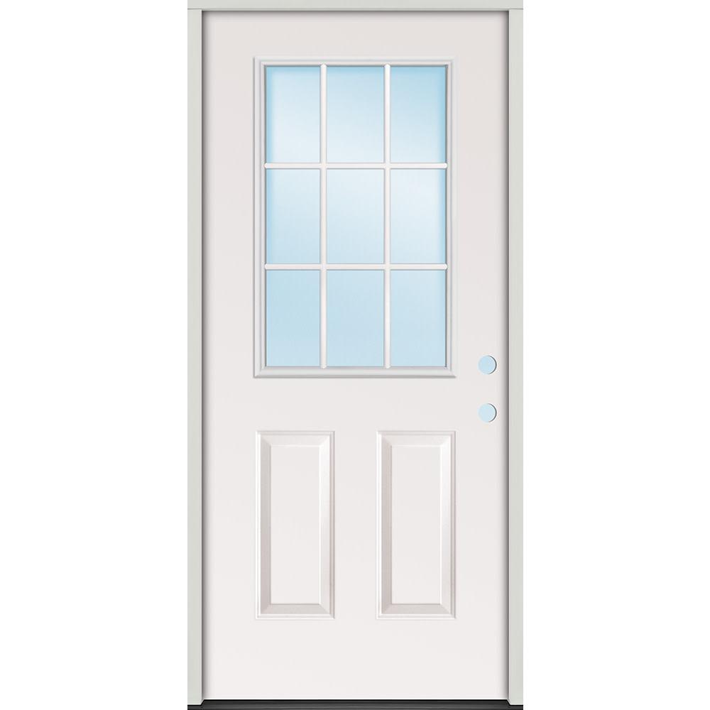 32 Left Hand 9 Lite Exterior Steel Door