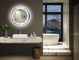 Lighted Impressions Moon Mirror