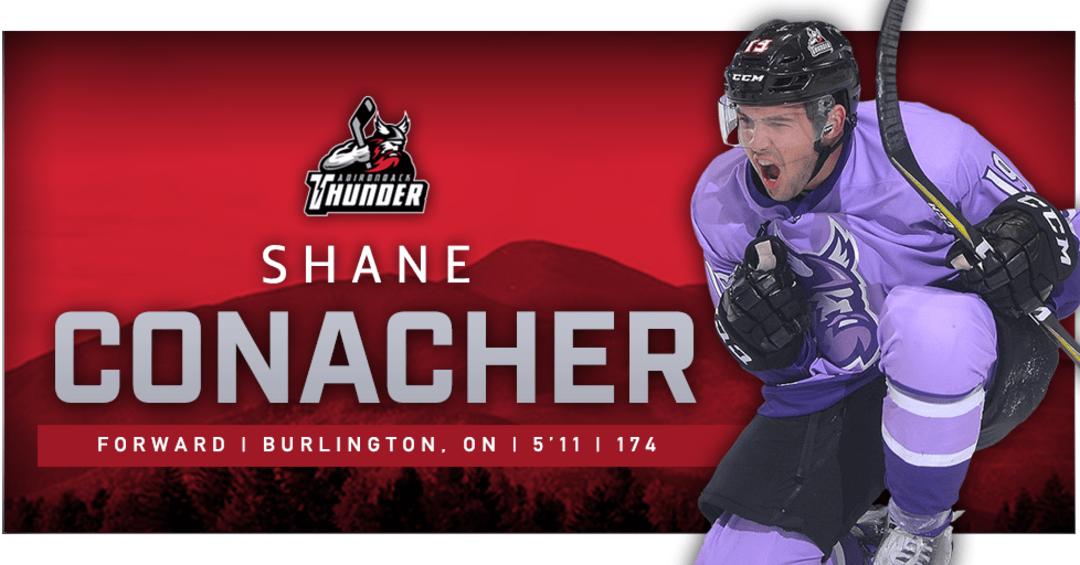 Forward Shane Conacher Re-Joins Adirondack