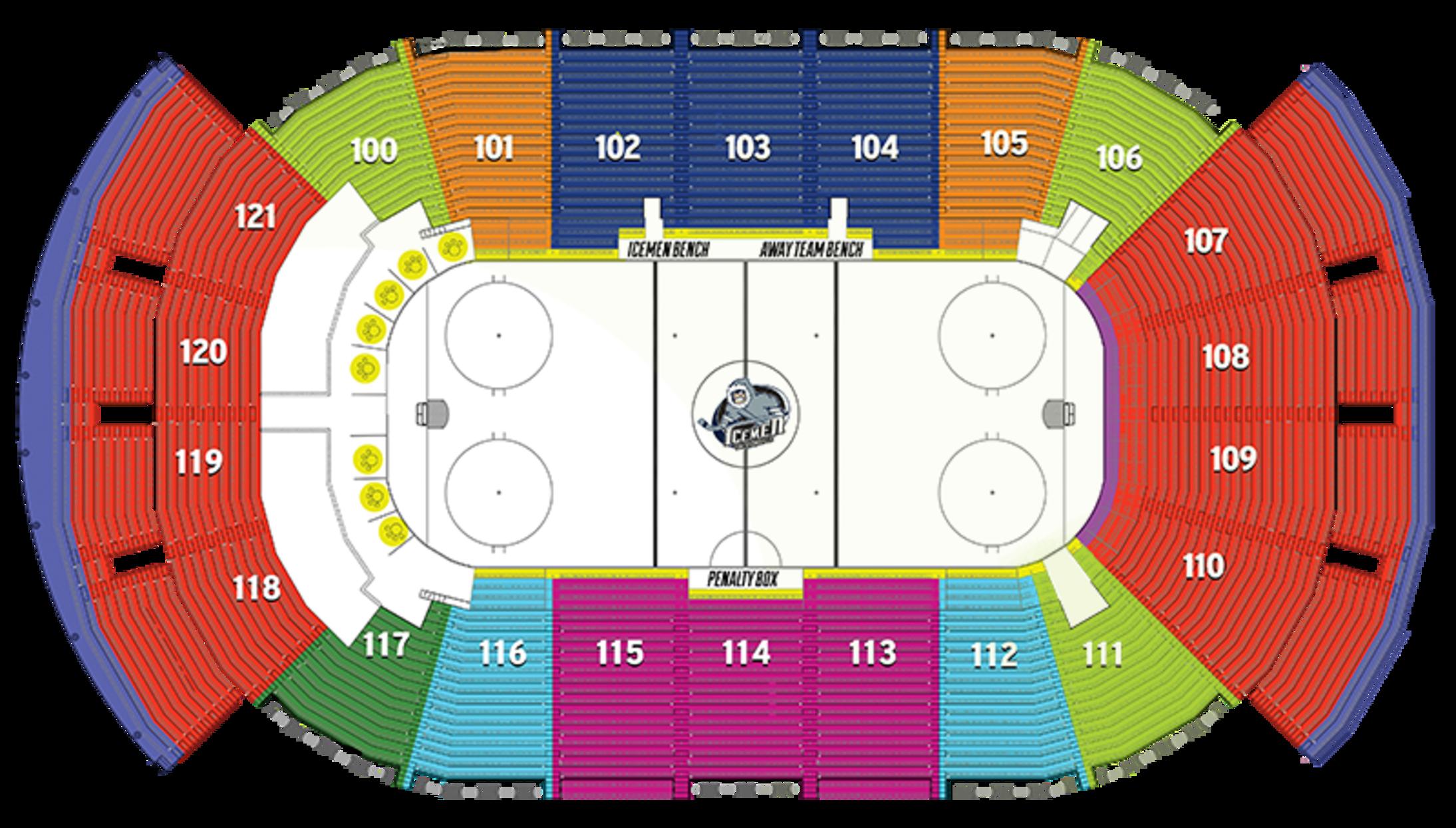 Veterans Memorial Arena Seating Chart