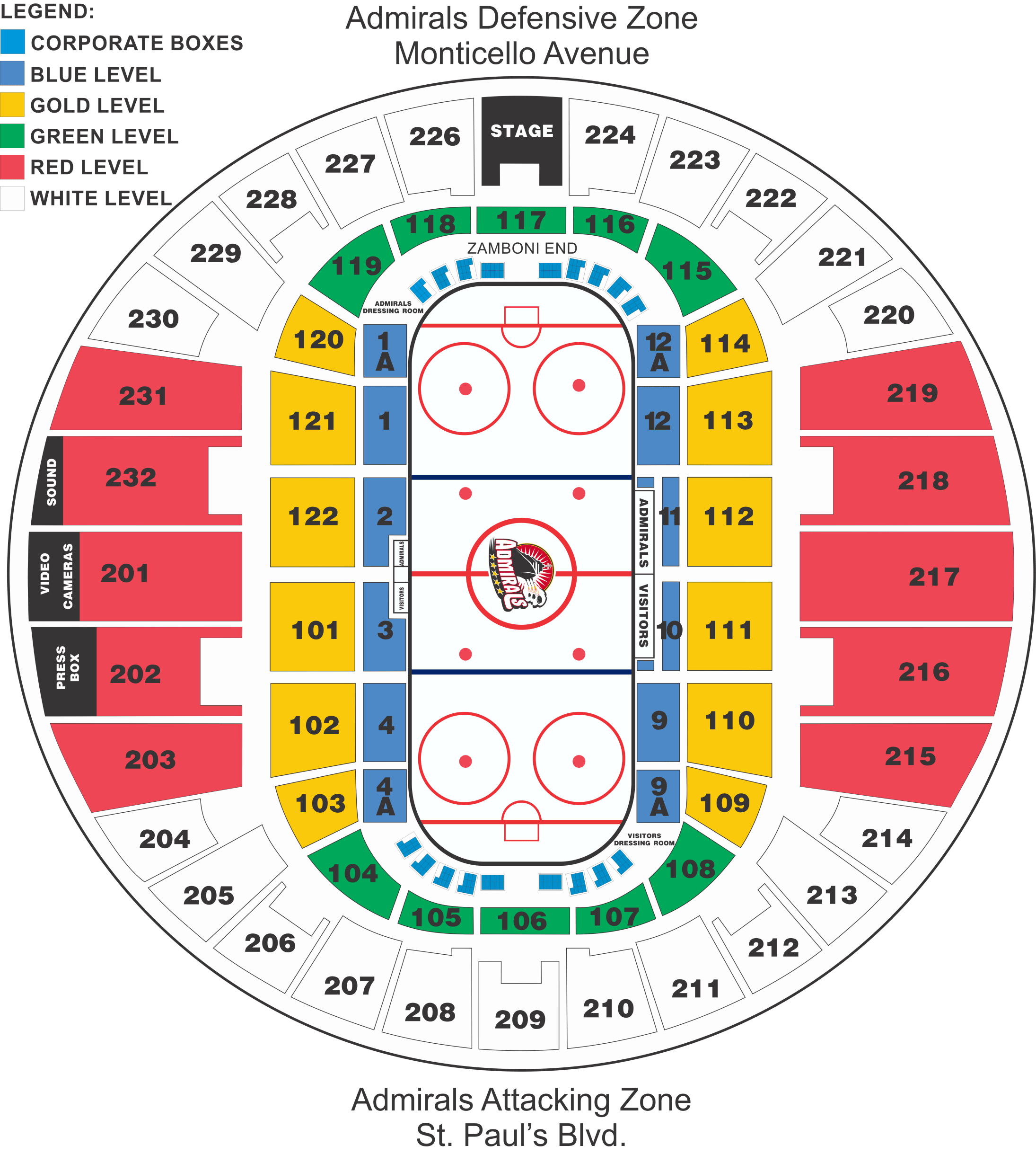 Admirals Issue Announcement On 2017 18 Seating Map