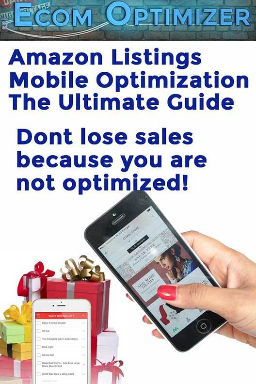 Amazon Mobile Listing Optimization
