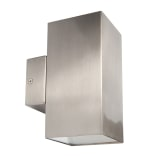 Cane 2 x 5W 4000K LED Square Up & Down Wall Light Stainless Steel