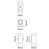 Tulua 2 x 35W GU10 Up & Down Wall Light