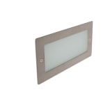 Madrid 6W 3000K LED Wall Light with Plain Frame Stainless Steel
