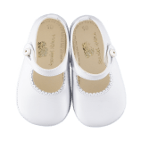 Leather Shoes- White