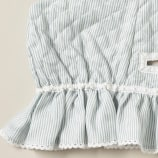 Moses Basket Set - Linen Stripe Blue