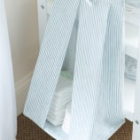 Nappy Stacker - Linen Stripe Blue