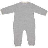 Merino Zip Up Babygrow - Grey