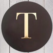 Letter T Leather Coaster