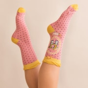 Letter H Ankle Socks